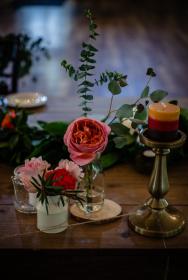 Pinky Peach Rustic Wedding at Hollyhedge Estate PA